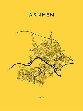 Plattegrond Arnhem in Vitesse kleuren van Michel Vedder Photography