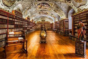 Bibliotheek van Strahov-Klooster in Praag, Tsjechische Republiek van Roy Poots