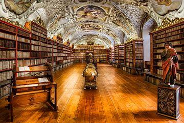 Bibliothèque du monastère de Strahov à Prague, République tchèque sur Roy Poots