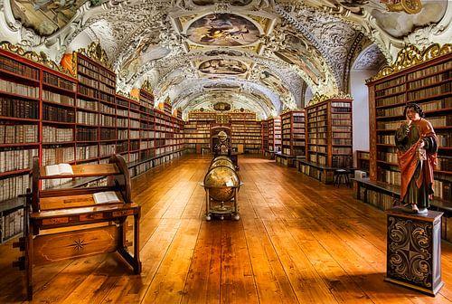 Bibliotheek van Strahov-Klooster in Praag, Tsjechische Republiek van