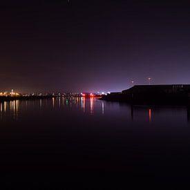 Lichtgemälde: Horizont @ Nacht von Jarno De Smedt