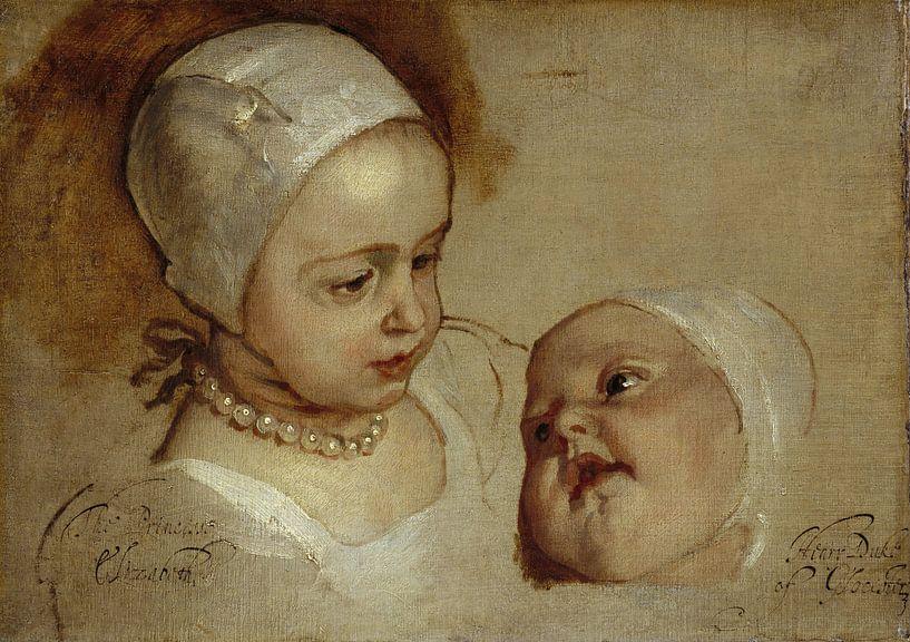 Prinzessin Elizabeth und Prinzessin Anne, Antoon van Dyck von Meesterlijcke Meesters
