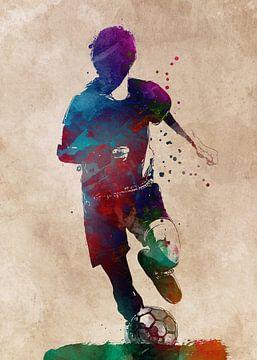 Voetbalspeler 4 sportkunst #voetbal #voetbal #voetbal van JBJart Justyna Jaszke