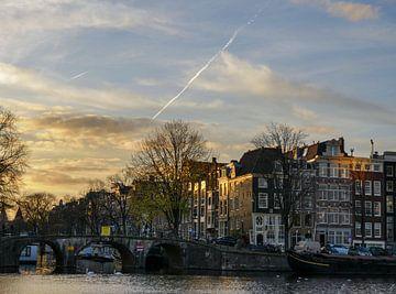 Zonsondergang aan de Amstel van Odette Kleeblatt