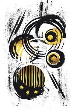 Abstrakte Malerei Nr. 32 | gold von Melanie Viola