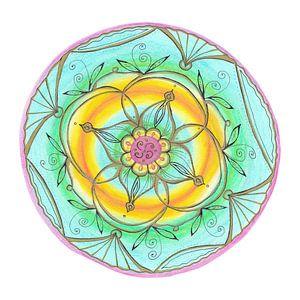 "Mandala ""Lebensfreude"" handgemalt van"