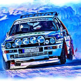 Lancia Rally van Jean-Louis Glineur alias DeVerviers