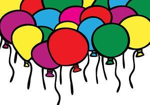 Luftballons, Party, Farbe.