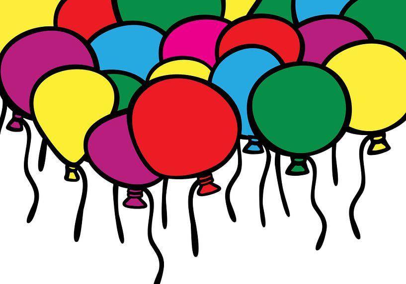 Luftballons, Party, Farbe. von Mark Rademaker