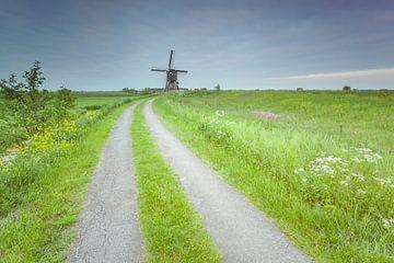 Wipmolen Zijdebrug Streefkerk (Nederland) van Adrian Visser