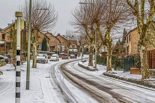 St. Remigiusstraat Simpelveld in de sneeuw