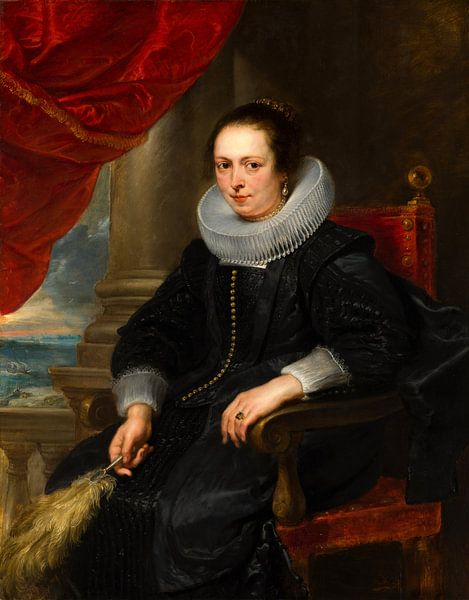 Portrait of a woman, possibly Clara Fourment, Peter Paul Rubens von Meesterlijcke Meesters