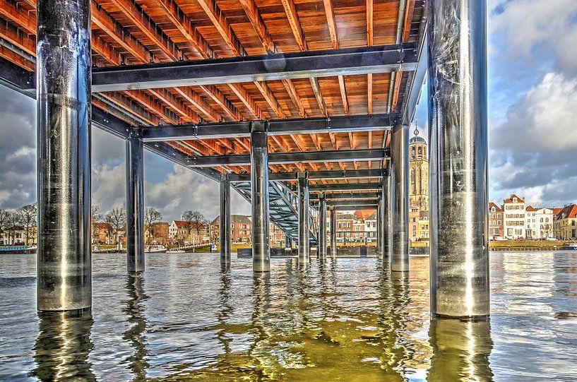 Deventer sous le pont sur Frans Blok