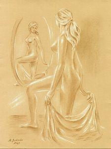 Akt am Spiegel