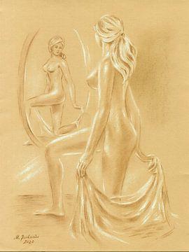 Akt am Spiegel von Marita Zacharias