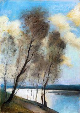 Frühling - Märkischer See, LESSER URY, 1903 von Atelier Liesjes