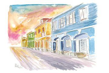 Christiansted St Croix Koloniale Straßenszene US Virgin Islands II von Markus Bleichner