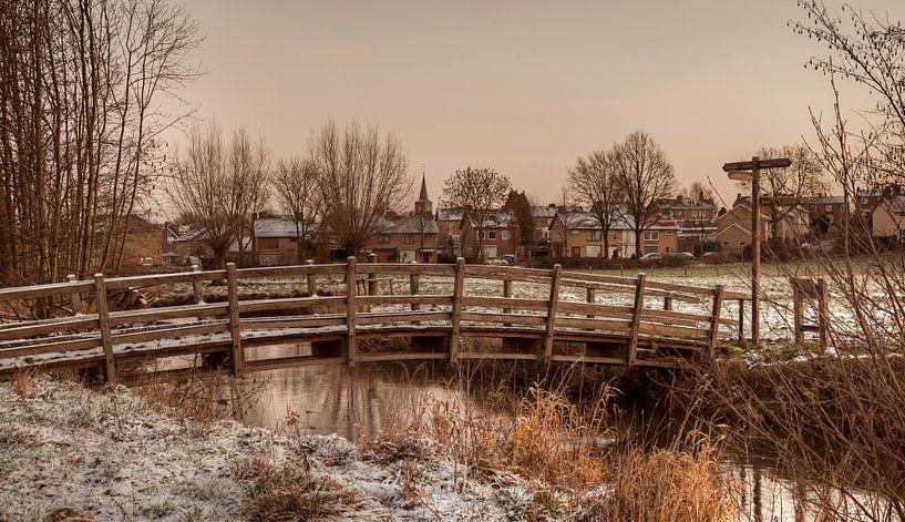 Bruggetje over de Geul bij Mechelen van John Kreukniet