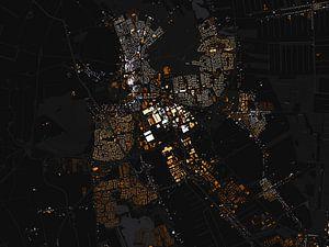 Kaart van Emmen abstract van