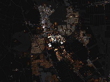 Kaart van Emmen abstract sur Stef Verdonk