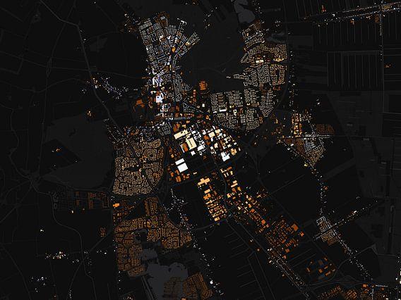 Kaart van Emmen abstract van Stef Verdonk