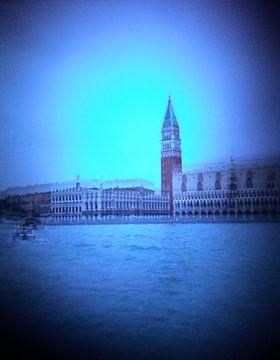 mysterieuze foto San Marco plein en dogenpaleis Venetie etie van Karel Ham