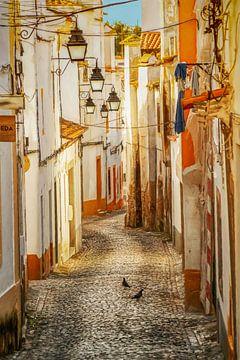 Die Gassen von Evora, Portugal