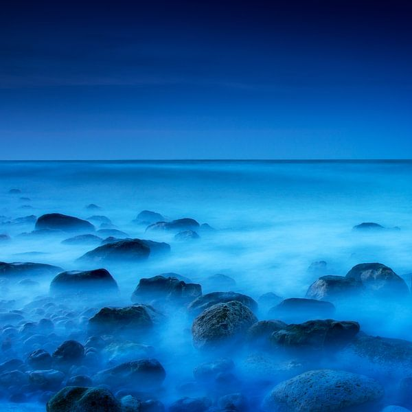 Blue on the rocks