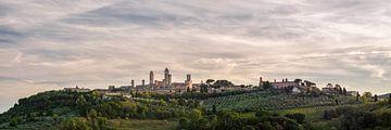 San Gimignano - Toscane - panorama sur les toits sur