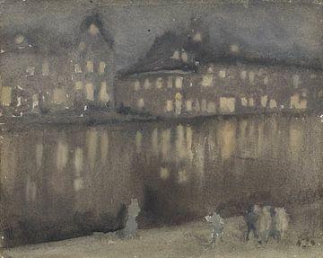 James McNeill Whistler, Canal, Amsterdam, bei Nacht - 1884 von Atelier Liesjes