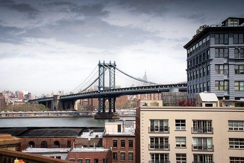 New York - zicht op Manhattan (bridge) von Mark de Boer - Artistiek Fotograaf