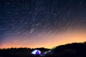 Heldere sterren tijdens de Perseïden.