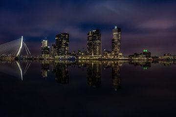 Skyline Rotterdam van Mario Calma