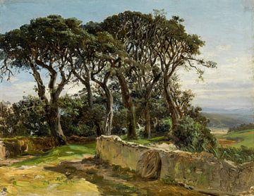 Carlos de Haes-Oude Waldlandschaften, Antike Landschaft