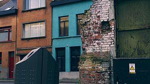 Straat in Antwerpen van Marc Pennartz