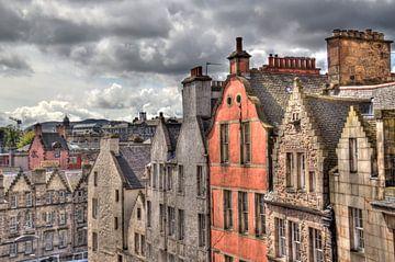 Historische huizen in Edinburg van Jan Kranendonk