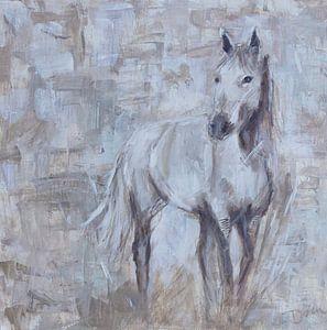 Cheval à peindre, abstrait