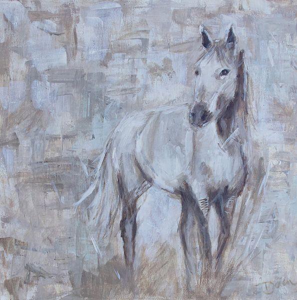 Cheval à peindre, abstrait sur Mieke Daenen
