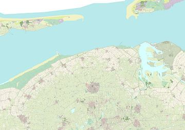 Kaart van Noardeast-Fryslân
