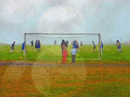 Voetbal in Djupivogur, IJsland