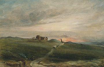 Stonehenge bij zonsondergang, John Constable...