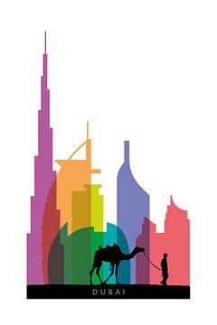 Dubai auf einen Blick von Harry Hadders