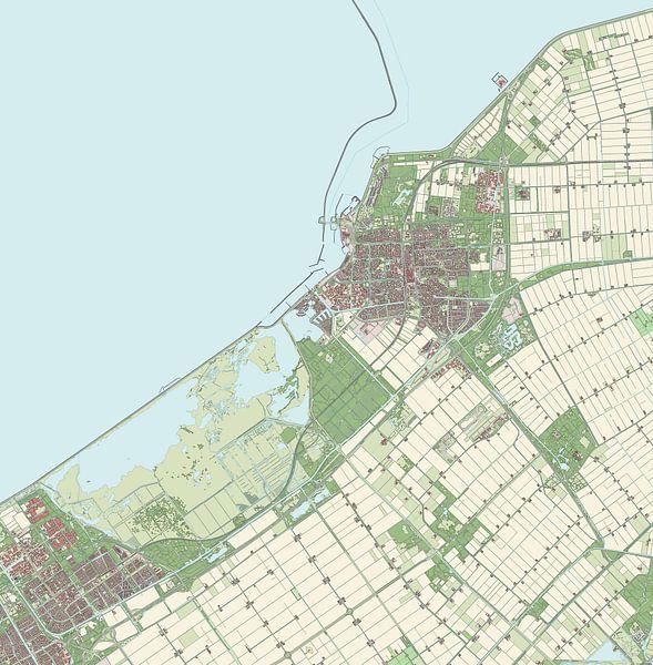 Kaart vanLelystad van Rebel Ontwerp