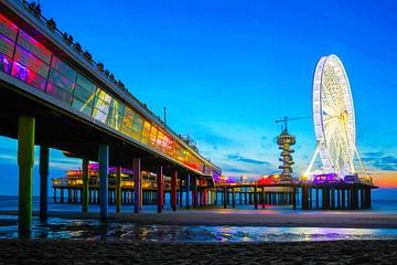 Scheveningen Reuzenrad op de Pier Boulevard  sur Dexter Reijsmeijer
