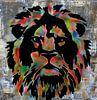 Kleurrijke Leeuw  van Femke van der Tak (fem-paintings) thumbnail