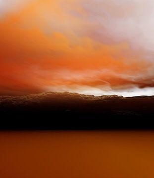 Orangefarbene Sonnenuntergänge von Angel Estevez