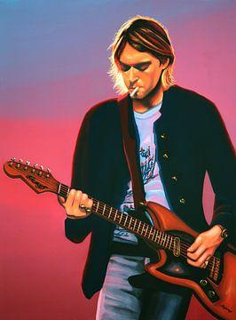 Kurt Cobain schilderij van