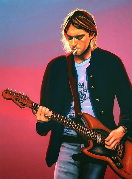 Kurt Cobain painting sur Paul Meijering