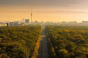 Berlijn Skyline met Brandenburger Tor en TV Toren