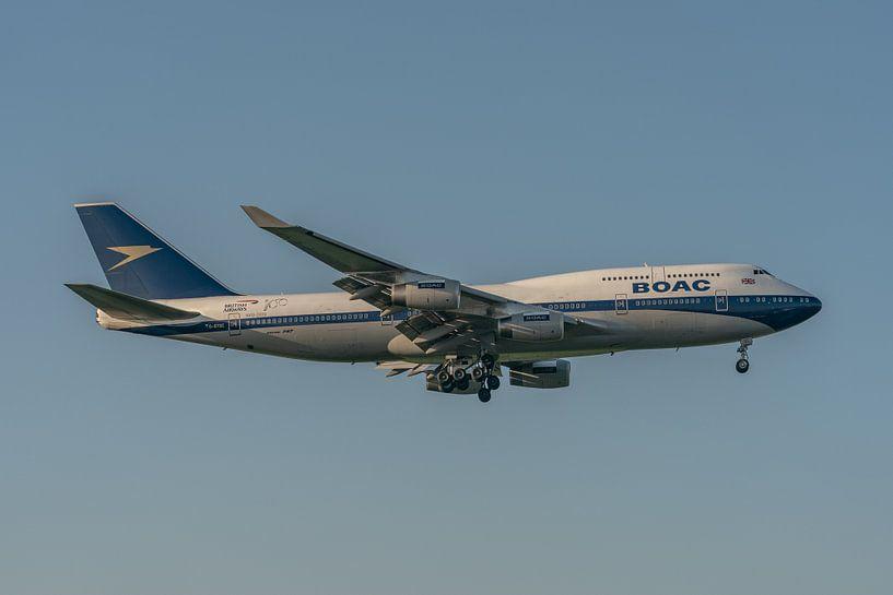 100 jaar British Airways! Deze Boeing 747-400 (G-BYGC) van British Airways is vanwege dit jubileum g van Jaap van den Berg